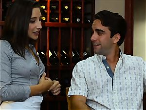 Abella Danger and Lexy Rose love cafe 3some