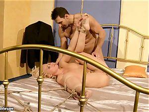 super-hot Kathia Nobili gets her slit packed with pecker