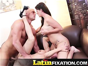 LatinFixation super-fucking-hot 3some with Sophie Dee