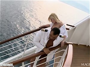 ass-fuck porno with the captain and his secretary on a luxury yacht