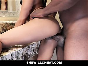 SheWillCheat - hotwife wife pulverizes big black cock in shower