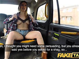 faux taxi Ava Austen in steaming ultra-kinky cab pummel