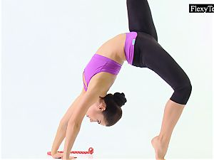 Tonya the super-fucking-hot gymnast makes amazing poses