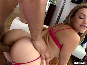 steamy caboose light-haired Mia Malkova longing man-meat