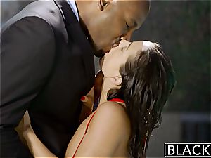 Abigail gets sexually aroused over a ebony studs' sausage