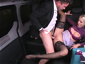 banged IN TRAFFIC - Christmas car intercourse with Swedish stunner