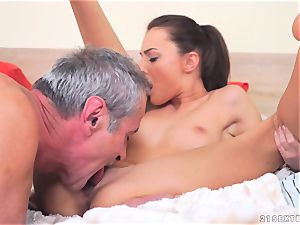 Katy Rose penetrated by a older guy