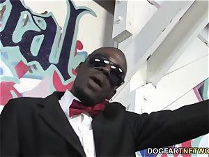 Aiden Aspen bi-racial gang-fuck