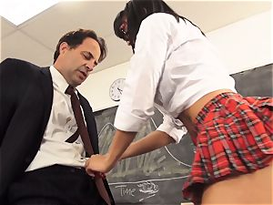 kinky student Luna starlet tempts her tutor
