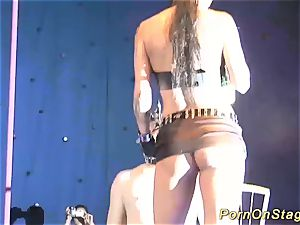 extraordinary fetish show on stage