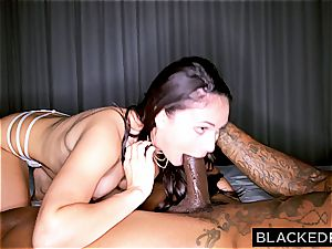 sizzling dark-haired making memories with a giant cock