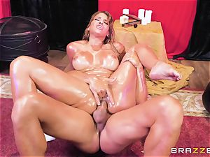Oiley Mercedes Carrera romped phat time by large lollipop