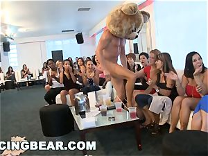 CFNM hotel party with meaty schlong male Strippers
