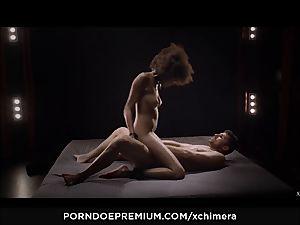 xCHIMERA - softcore fetish romp with black Luna Corazon