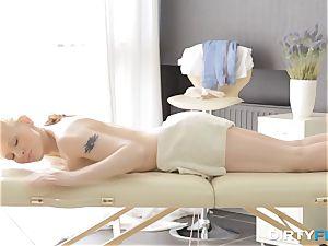 filthy Flix - hook-up on a folding massage table
