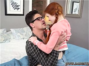 fledgling red-haired freckles and homemade popshot Dolly tiny is in need of some tutoring