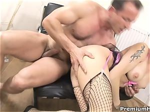 Stacy Silver is impressive in her fisnets