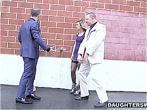 Pimp dads are checking what each other's daughter-in-law has to offer