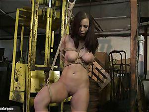 Kathia Nobili spanking the booty of super-fucking-hot girl with cane