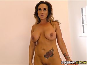 spurting mummy Aubrey dark-hued humps big black cock