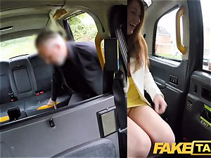 faux taxi insane redhead ultra-cutie in filthy screw