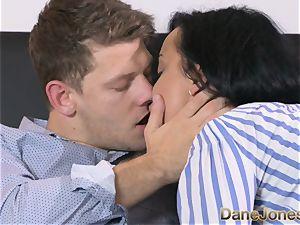 Dane Jones kinky dark-hued haired Russian has internal ejaculation