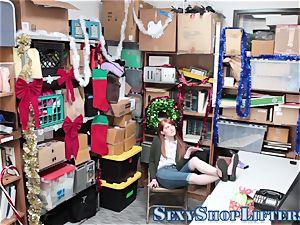 teenager shoplifter throating