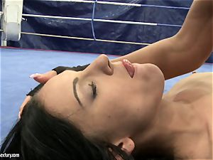 stunner devil and Melanie Memphis make out in the ring