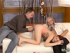 very first aged boy unexpected experience with an senior gent