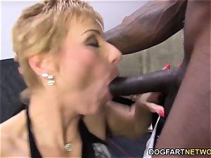 steamy cougar Gemma More Offers ass-fuck hump To black fellow