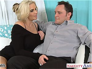Glamourous Phoenix Marie well-prepped for spunk-pump in her rosy pussy
