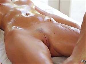 fabulous rubdown completes in xxx pummel with Alexis Adams