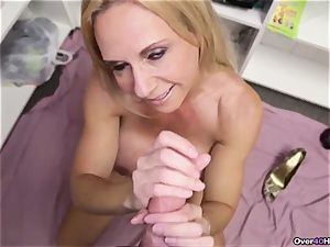 milf Offers Her Helping arm With jizm packed ball sack