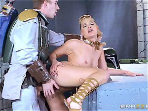 Abby Cross stuffed in her raw puss