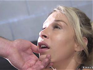 Arrested gigantic bootie blond pulverized in bondage & discipline