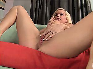 buxomy Mariah Maddysinn gets massaged and rode