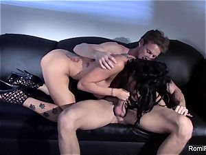magnificent Romi Rain teases and then gets penetrated firm
