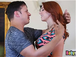 tastey sandy-haired nanny loves riding enormous rock hard stiffy