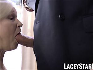 LACEYSTARR - kinkiest granny analled before cum-shot
