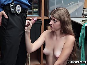 Alyce in Wonderland gets disrobed and banged by the guard
