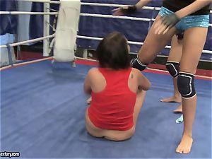 Emma backside and Larissa Dee girl warm fight