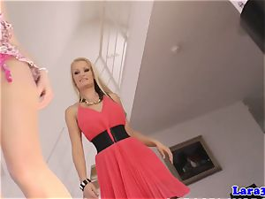 Mature brit girl-on-girl frigged and toyed