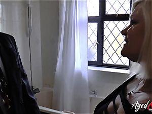 AgedLovE Mature chick Lacey Starr sucking firm manhood