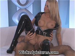 Jessica Drake sensationally pounding in rubber