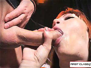 first Class pov - Alexa Nova fellating a thick cock in pov