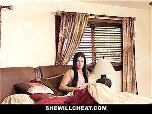 SheWillCheat - Stepmom Caught Using fake penis