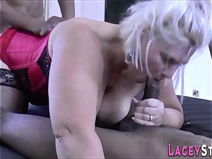 british grandmother spitroasted
