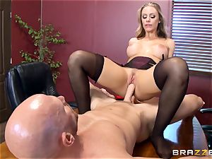 warm chief Nicole Aniston taking a fat schlong in the office