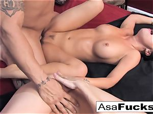 Asa and Dana crew up for a steaming 3some with Derrick