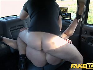 faux cab towheaded mummy Victoria Summers penetrated in a taxi